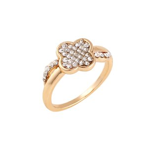 El último diseño chapado en oro rosa para mujer Anillos de compromiso exquisito celta con anillos de boda de piedra para las mujeres laterales