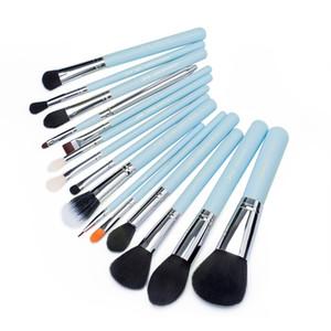 2017 Jessup Pinceaux 15 pcs Pinceaux De Maquillage Ensemble Poudre Fondation Fard À Paupières Concealer Eyeliner Pinceau À Lèvres Outil Bleu Argent T105