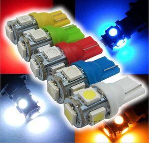T10 5smd 5050 194 168 2450 2921 Bombillas de automóvil de cuña para luces laterales Luces de lectura automáticas LED de lectura Amarillo / Rojo / Verde / Azul / Blanco
