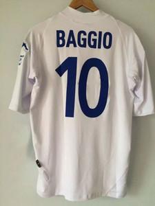 2003 04 bresia casa retro jerseys branco Lycra flexível baggio clássico última camisa usada Roberto Baggio vantage camisas de rugby