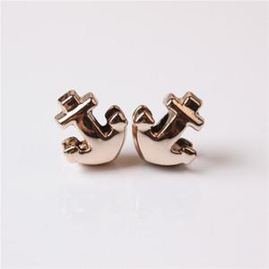 Liga de Charme Bead Brave Anchor Banhado A Ouro Moda Feminina Jóias Impressionante Design Estilo Europeu Para Pandora Pulseira Colar