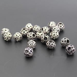 Granos flojos de la piedra preciosa Granos espaciadores de plata Encantos del estilo de Pandora Granos del cráneo Granos a la moda de la plata esterlina 925 del grano del corazón Pulseras