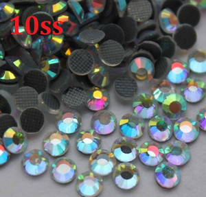 1440 adet 10SS 3mm Kristal AB Sıcak Düzeltme Rhinestones Boncuk Dikiş için