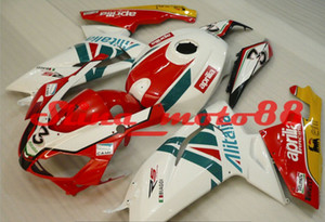 Personalizar gratis Kit de carenado de motocicletas para Aprillia RS125 2006-2011 Red White Green Failings RS 125 06 07 08 09 10 11