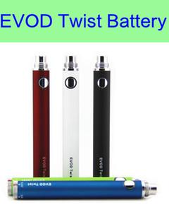 30 Adet / grup EVOD büküm pil 650 mAh 900 mAh 1100 mAh elektronik sigara büküm pil ii pil eGo e sigara MT3 CE4 CE5 atomizer için