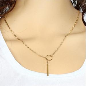سلسلة قلادة مجوهرات النساء موجزة موضة الذهب / الفضة مطلي سبائك دائرة / حزام معدني المختنقون الترقوة سلسلة القلائد بالجملة SN574