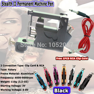 Wholesale-2015 Stealth II Tattoo Machine Rotary Tattoo Machine Gun Liner Shader for Tattoo Kits Supply 7 Colors Free Shipping