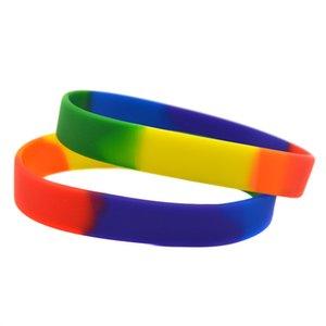 1PC Plain Segmented Farbe Homosexuell Pride-Silikon-Kautschuk-Armband Manchmal Keine Mitteilung ist die beste Nachricht