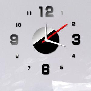DIY Extraíble Adesivo De Parede Decoración Del Hogar Dígitos Reloj de Pared Etiqueta Conjunto Creativo Efecto Espejo de Acrílico Etiqueta de Cristal, dandys