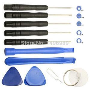 1set 11 en 1 teléfonos celulares Juego de herramientas de reparación de palanca de apertura Juego de herramientas de destornilladores Kit Ferramentas para iPhone 5S 4 Samsung htc Moto, etc.