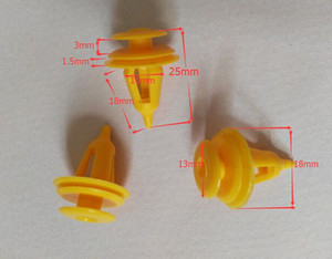 Free Shipping Universal Superior Quality Brand New Yellow 100Pcs Set Car Auto Plastic Rivets Door Trim Panel Push Pin Clips