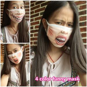 Смешные 4 цвета выражение маска для пыли маска для рта Emotiction рот-муфель Зимняя Хлопок маска для пыли унисекс Anti-Dust Маски для лица ouc2105