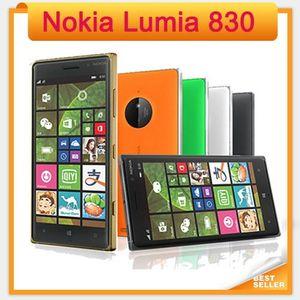 """Nokia Lumia 830 Original Desbloqueado 5.0 """"16GB Quad-Core 1.2GHz 10MP Windows 8.1 GPS WIFI 3G desbloqueado refurbishe telefones celulares"""