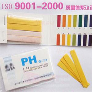 Toptan-Yüksek Kalite Tam Aralık 1-14 Litmus Test Kağıt Şeritleri 80 Şeritler PH Kağıt Test Cihazı Göstergesi PH Partable Metre Analizörleri