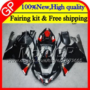 Body For Aprilia RSV1000R Mille RSV1000 RR 03 04 05 06 07 08 Gloss black 2GP7 RSV 1000R 2003 2004 2005 2006 2007 2008 03 Motorcycle Fairing