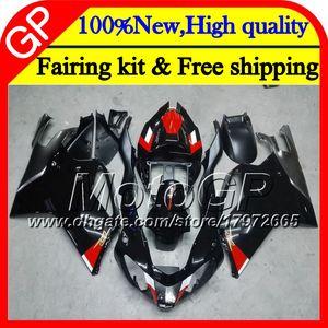 Body for Aprilia RSV1000R Mille RSV1000 RR 03 04 05 06 07 08 Gloss black 2GP7 RSV 1000R 2003 2004 2005 2006 2007 2008 03 Fairing Motorcycle