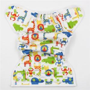 Niños de dibujos animados a prueba de fugas cubierta del pañal del bebé transpirable impermeable infantes niños transpirable lavable ajustable pañales de tela cubre