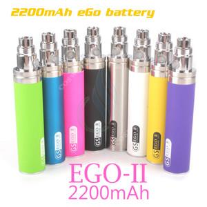 Batterie d'origine GS eGo II 2200mAh KGO UNE SEMAINE 2200 mAh d'énorme capacité Puissance mods atomiseurs à vapeur mod vape pen e e cigarettes cigarettes batterie DHL