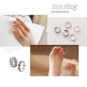 30pcs de alta qualidade retro de prata antigo Toe anel da flor Alloy Esculpido ajustável dedo Anel Europa Anel Mulheres Jóias frete grátis