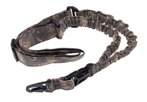 Funpowerland Adjustable Digital Camo or black Bungee Gun Sling With Tactical Single Point Gun Strap Free Shipping
