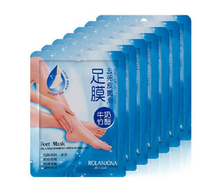 100% Safe Pair Exfoliating Foot Mask Soft Feet Remove Hard Dead Skin Dry Skin Treatment 2pcs=one Pair in stock