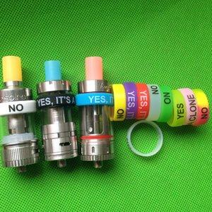 Силиконовое кольцо для e Cigarette Mod Vapor Силиконовая лента Vape Ring Разноцветный нескользящий нескользящий силиконовое кольцо для SUB mini / sub nano Sub tank