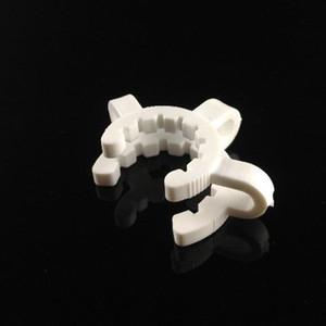 Plastique Keck Plastique Clip Fabricant blanc Laboratoire Lab Clamp Clip connecter verre bong 14mm 18mm pour votre sélection