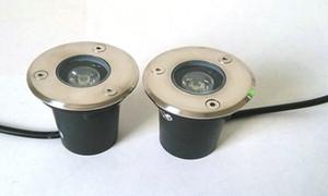 O envio gratuito de Alta qualidade 6 pcs 3 W lâmpadas subterrâneas LEVOU Enterrado iluminação LED luz subterrânea ao ar livre recesso DC12V / AC85-265V