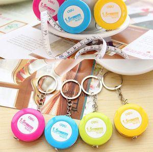 Mini Maßband Kunststoff Schlüsselbund Schlüsselanhänger Mischfarbe Nähen Schneider Abnehmen Messlineal Nähen Begriffe Werkzeuge Messwerkzeuge