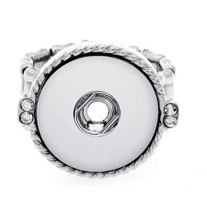 Moda 18mm DIY NOOSA anillo de diamantes de las mujeres Ginger Snap Button Anillo de joyería de bricolaje Chunk Snap Button regalo de Navidad Anillo
