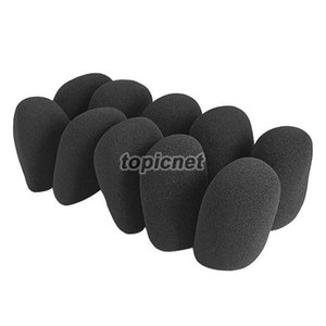ASLT 10Pcs Black Microphone Grill Foam Cover Audio Mic Shield Sponge Cap Holder ordine $ 18no track