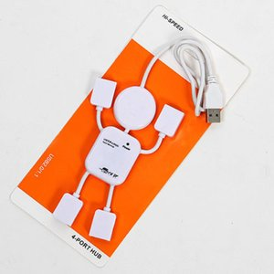 Bonito 4 portas 2.0 Humanoid Splitter cabo adaptador USB Hub de alta velocidade para PC portátil