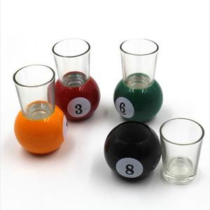 1 set 9 PCS Billiards Blackjack Glass Wine Mug Beer Glasses Shot Crystal Shot Wine Novelty Cup for Bar Home and Parties