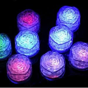 Água Submersível LEVOU Cubos De Gelo Rose nightlight Colorido LED Sensor de líquido luzes mudando LED Night Lights Fontes Do Partido Decorações