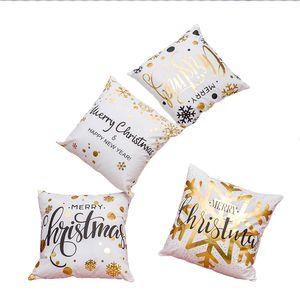 Bronzlaştırıcı pazen Ev Yastık Kapak Merry Christmas Kare Yastık Kılıfı Dekoratif Yastık Ekle (18 * 18inch) olmadan Yastık kılıfı Kapaklar