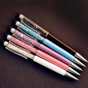 Crystal Pen Diamond Penne a sfera Cancelleria Ballpen Caneta Novità regalo Zakka Materiale per ufficio Materiale scolastico 5 pz / lotto