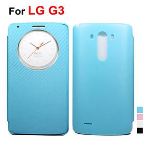 Para LG G3 Círculo Breve Caso Window View Bolsa em couro Caso Shell com tampa porta da bateria para G3 D855 D850 alta qualidade