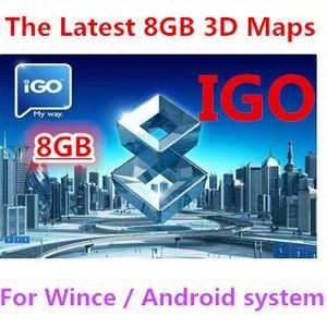 igo araba için harita 8GB SD / ABD, Kanada, Meksika için araba IGO Primo GPS Navigator harita ile TF hafıza kartı gps