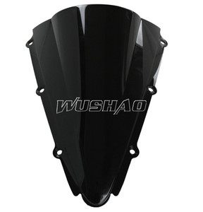 Motorcycle Double Bubble Windshield WindScreen For 2000-2001 Yamaha YZF 1000 R1 00 01 Black