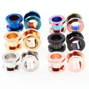 3mm de Aço Inoxidável Parafuso Plugues Ouvido Fit Ear Flesh Túneis Piercing Jóias Brinco Expander Earlet Gauges Body Piercing
