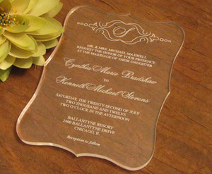 2016 High quality Acrylic clear Wedding invitations card,wedding invites,acrylic invitations,wedding invitations,