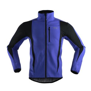 Al por mayor-ARSUXEO Thermal Cycling Ride Sports Jacket Winter Warm Up ropa de la bicicleta a prueba de viento a prueba de agua Soft Shell Coat MTB Bike Jersey