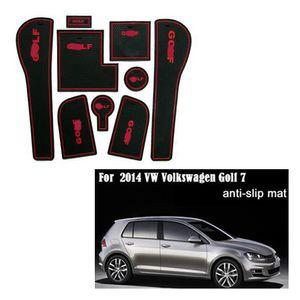 Для 2014 VW Volkswagen Golf 7 для ПВХ противоскользящие слот коврик двери ворота колодки / коврик бак прокладка чашки мат / коврик автомобильные аксессуары 3Color