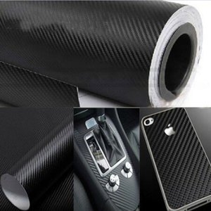 3D 탄소 섬유 비닐 필름 블랙 127cm * 30cm 자동차 스타일링 방수 자동차 스티커 포장 DIY 자동차 튜닝 부품 스티커