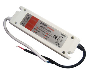 12V 8A 100W Voltaje constante Led Driver Power Supply 90-240V AC Color blanco para tiras de luz led bombillas 10pcs / lot