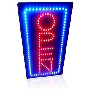 "Wholesale-19""x9.5"" Animated Motion led sign board OPEN led Neon sign flashing and change colors led sign board On/off Switch for"