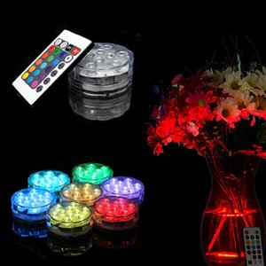 LED Remote Control Diving Light Aquarium Diving Lights 7 colour Submersible Lights LED Vases Base Light Wedding Christmas Lights