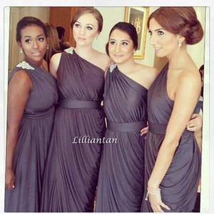 Дешевые клюква одно плечо A-Line длинные платья невесты свадебные платья выпускного вечера платья вечерние платья vestido де феста плюс размер