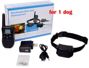Wiederaufladbare und wasserdichte 300 Meter Remote Pet Training Kragen mit LCD Display mit 1 Kragen für 1 Hund 998DR1 20pcs / lot