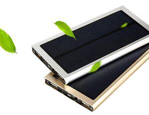NEW Brand 10000mAh Портативный банк солнечной энергии Ультратонкий резервного POWERBANK зарядное устройство питания батареи питания для Смартфонов